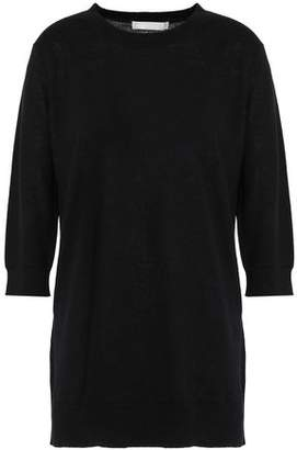 Vince Woven Linen And Cashmere-Blend Top