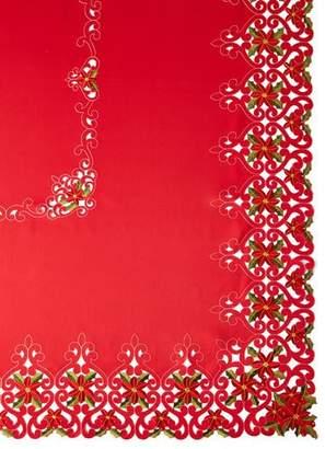 "Sferra Poinsettia 72"" x 126"" Tablecloth with 12 Napkins"