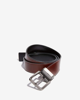 Express Reversible Brushed Silver Prong Buckle Belt