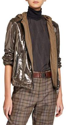 Brunello Cucinelli Reversible Buffered Leather Jacket