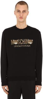 Moschino Printed Cotton Jersey Sweatshirt