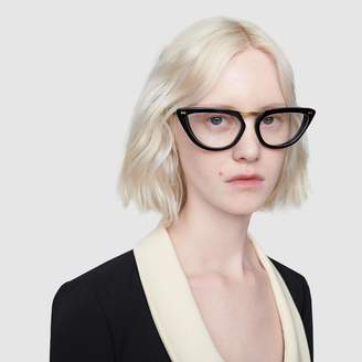 Gucci Cat-eye acetate glasses