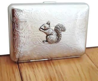 Wild Life Designs Squirrel Cigarette Case Or Silver Card Case