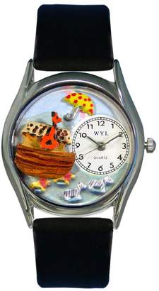 Whimsical Watches Women's S0710006 Noah's Ark Black Leather Watch