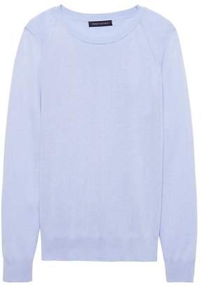Banana Republic Silk-Cotton Crew-Neck Sweater