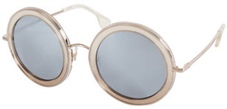 Alice + Olivia Beverly Round Sunglasses, Multicolor $295 thestylecure.com