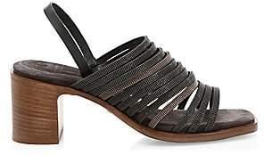 Brunello Cucinelli Women's Block Heel Multi-Strap Sandals