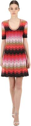 M Missoni Zigzag Lurex Knit Mini Dress