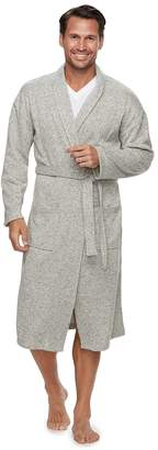 Croft & Barrow Men's Solid Sweater Fleece Robe