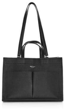 Kate Spade Women's Large Sam Leather Pocket Satchel - Black