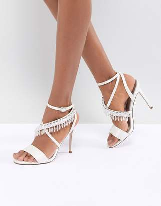 Asos DESIGN Hydro Bridal Embellished Heeled Sandals