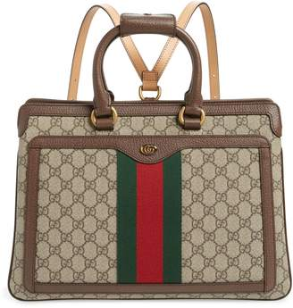 Gucci Ophidia GG Supreme Canvas Convertible Backpack
