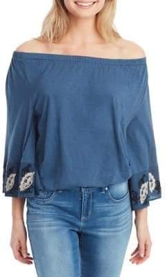 Jessica Simpson Plus Arlene Off-the-Shoulder Blouse