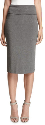 Eileen Fisher Fold-Over Knee-Length Pencil Skirt, Ash $168 thestylecure.com
