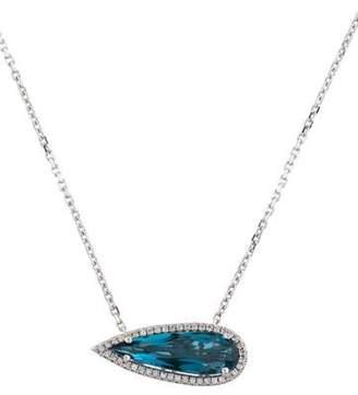Suzanne Kalan 18K London Blue Topaz & Diamond Color Classics Pendant Necklace