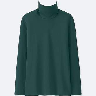 Uniqlo Women's Compact Cotton Turtleneck Long-sleeve T-Shirt