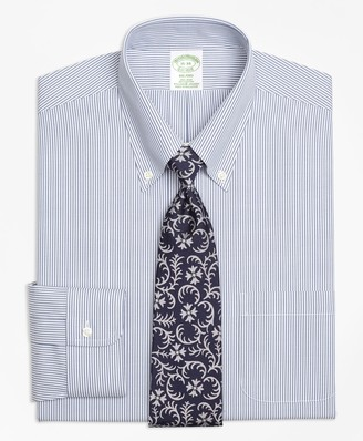 Brooks Brothers Stretch Milano Slim-Fit Dress Shirt, Non-Iron Candy Stripe