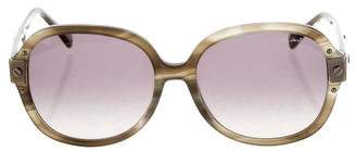 Lanvin Marbled Oversize Sunglasses