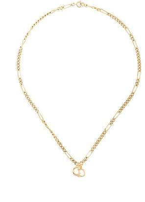 Christian Dior PRE-OWNED logo pendant necklacd