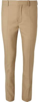 Balenciaga Skinny-Fit Virgin Wool-Blend Trousers - Sand