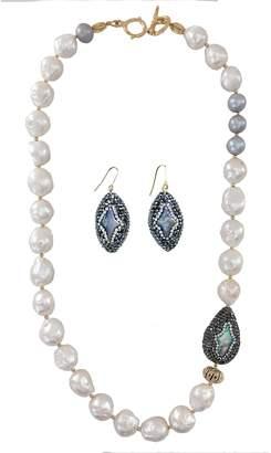 Farra - Edison Freshwater Pearls & Rhinestones Gift Set