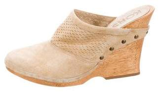 KORS Suede Leather Clogs