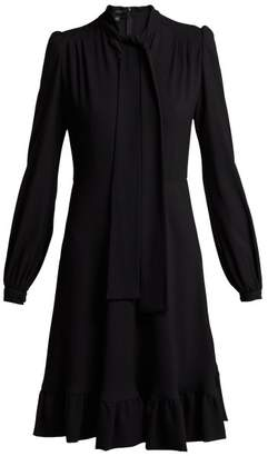Giambattista Valli Pussy Bow Crepe Dress - Womens - Black