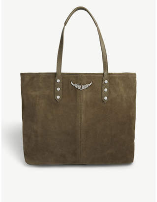 Zadig & Voltaire Taupe Brown Mick Suede Tote Bag