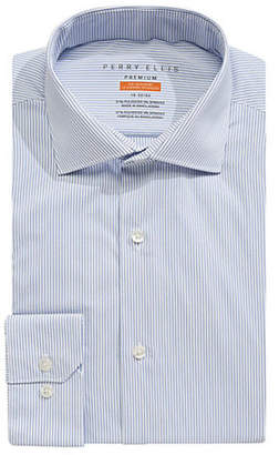 Perry Ellis Slim-Fit Striped Dress Shirt