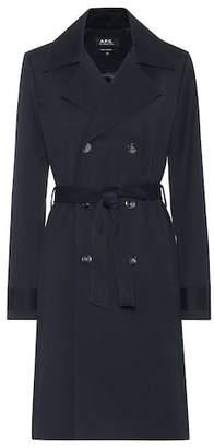A.P.C. Alexis cotton gabardine trench coat
