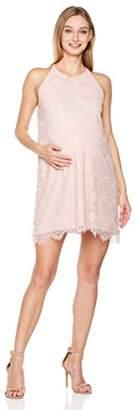 Abie Maternity Pregnancy Lace Dress Loose Fit Cold Shoulder