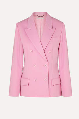 Stella McCartney Double-breasted Wool-twill Blazer - Pink