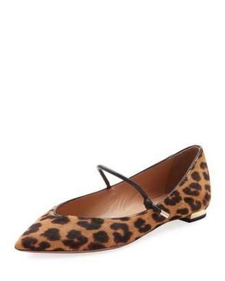 Aquazzura Stylist Leopard-Print Ballet Flats