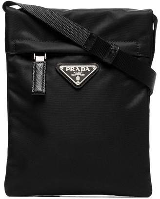 Prada black small nylon cross-body bag