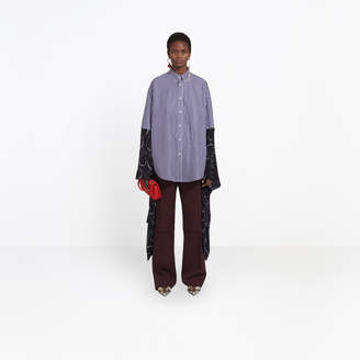 Balenciaga Hybrid striped shirt with Kimono sleeves