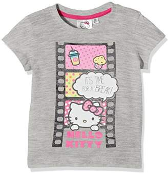 Hello Kitty Girl's Time for A Break T-Shirt,(Manufacturer Size:Large)