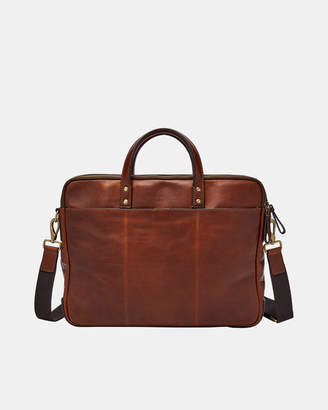 Fossil Haskell Cognac Briefcase