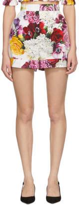 Dolce & Gabbana Multicolor Poplin Ortensia Shorts