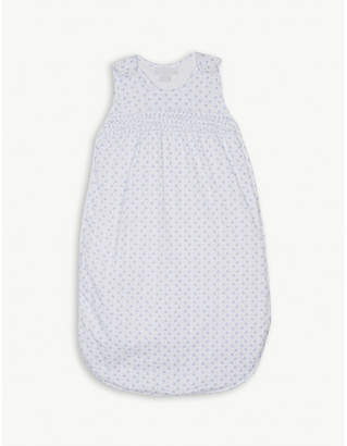 The Little White Company Heart print cotton sleeping bag 1.0 tog