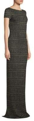 St. John Shimmer Jacquard Knit Gown