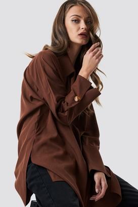 MANGO Coll Shirt Terracotta
