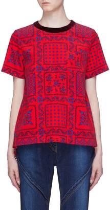 Sacai x Reyn Spooner floral print pleated back corduroy T-shirt