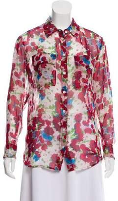 Equipment Silk Floral Print Top