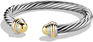 David Yurman Cable Classics Bracelet with 14K Gold, 7mm
