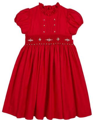 Luli & Me Smocked Ruffle-Collar Dress, Size 4-6X