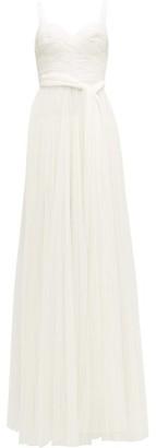 Maria Lucia Hohan Sienna Polka Dot Tulle Dress - Womens - White