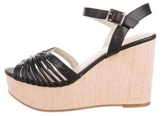Seychelles Leather Wedge Sandals