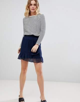 Ichi Ruffle Wrap Skirt