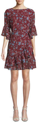 Rebecca Minkoff Wendy Floral-Print Flounce Dress