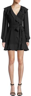 Parker Pauline Long-Sleeve Ruffle Mini Dress